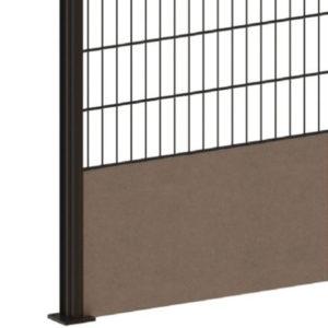 Plaque de soubassement unie pour clôture